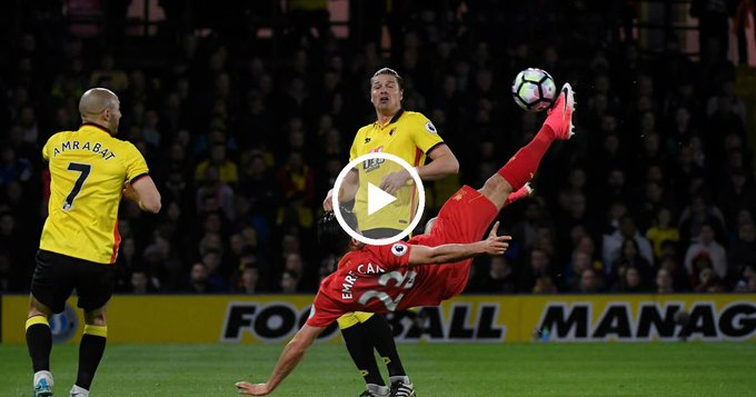 Le but de DINGUE d'Emre Can avec Liverpool !