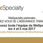 .@WeSpecialty partenaire du @LeRVAssurTransp. Retrouvez @P_deLaMorinerie @CharlesGounel @olivier_raimond @_Abbracciavento @Camille_derel