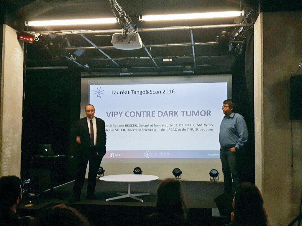 Présentation du projet #TangoScan --> Vipy contre Dark Tumor par @LucSOLER et @MitMadness au @Shadok_eu https://t.co/62CRV9TDec