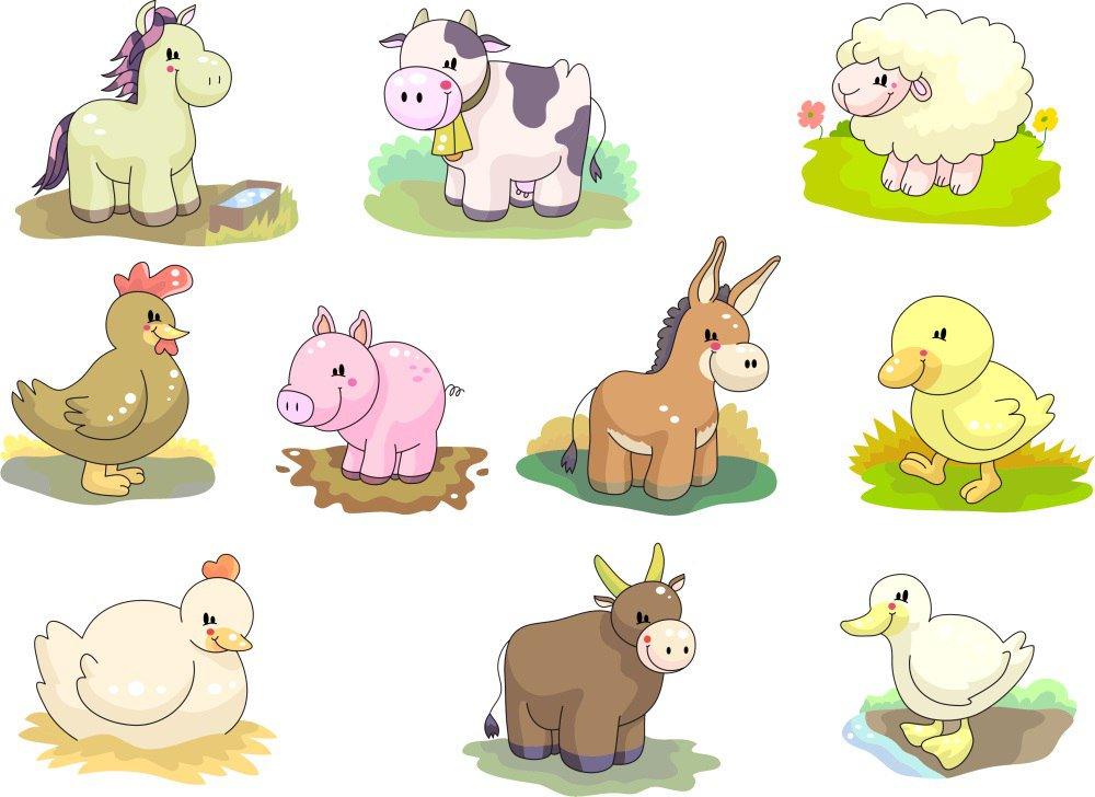 Животные в картинках для детей распечатать, сказочными