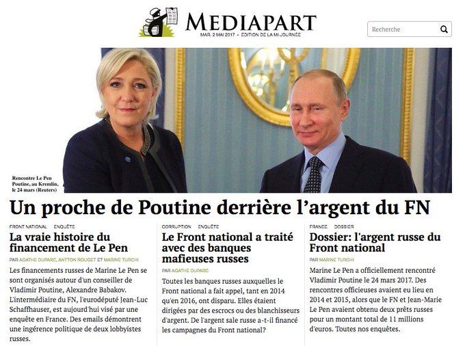 Un conseiller de Poutine se cache derrière l'argent russe de Le Pen et du FN. Nos révélations. https://t.co/XXf74M3kvu