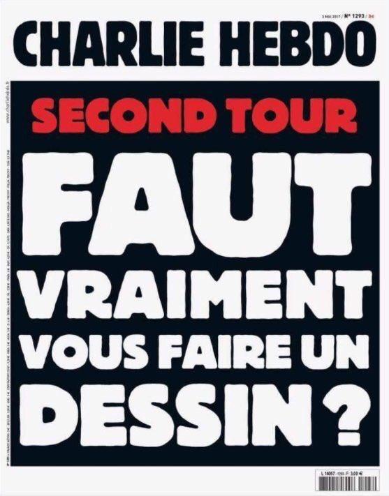 La une très forte de 'Charlie Hebdo'.