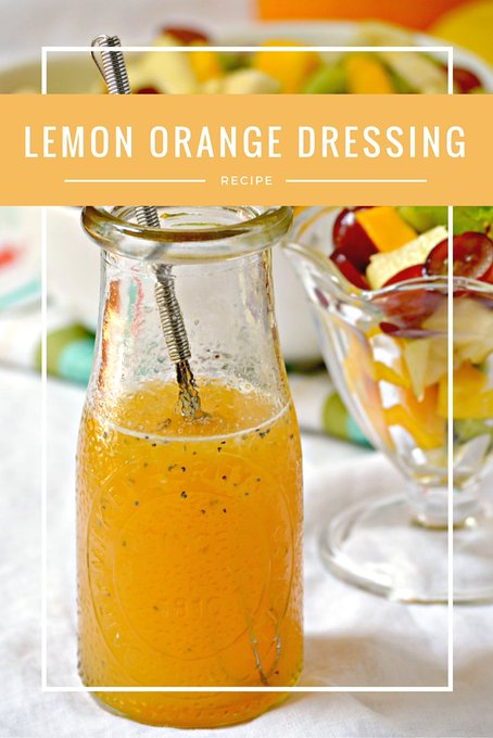Orange and Lemon Poppy Seed Fruit Salad Dressing