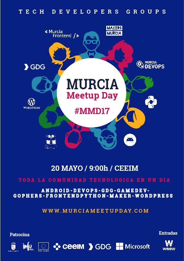 Cartel Jornada Meetup Day Murcia