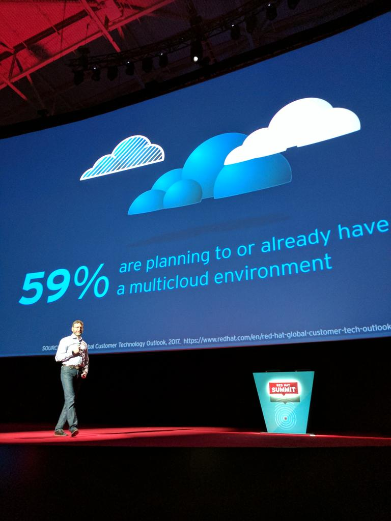 Cormier -  the future is #multi-cloud >> Yep #RHSummit https://t.co/3VV9IL66Ma