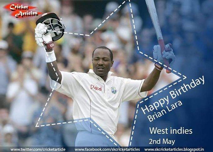 Happy Birthday to the Windies Cricket legend, Brian Lara!