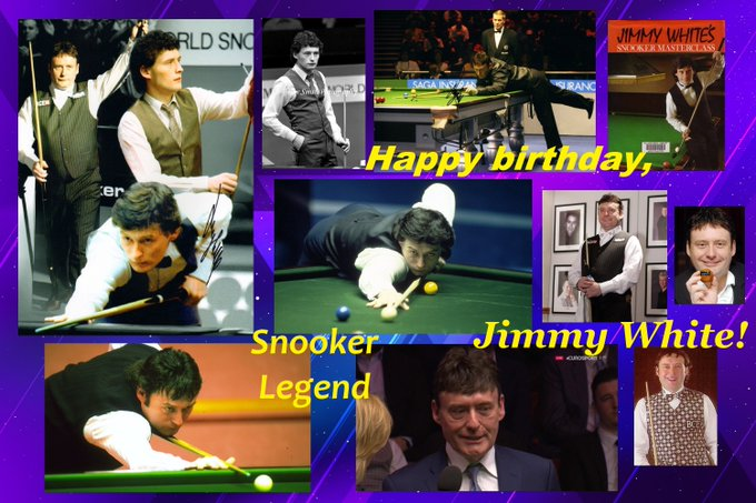 Happy birthday, Legend of Snooker wild-card 2017 season Jimmy White!