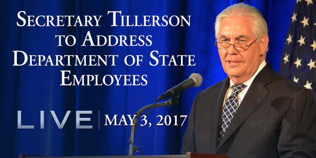 Image result for PHOTOS OF TILLERSON ADDRESSING HIS EMPLOYEES