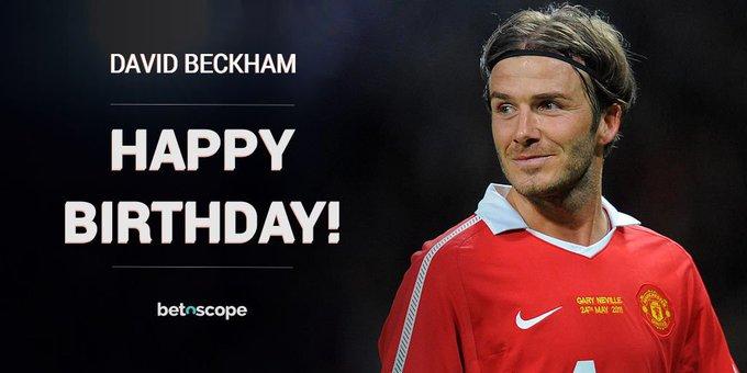 Happy 42nd birthday to icon and hero 6-time winner David Beckham!