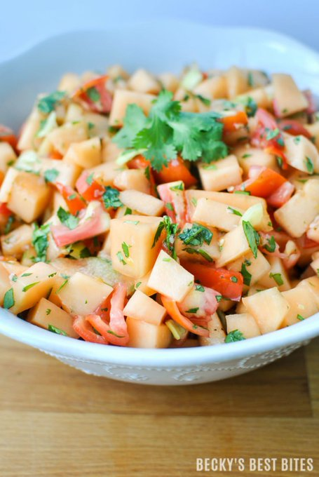 Summer Garden Fresh Cantaloupe Salsa