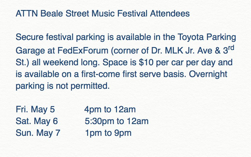 Fedexforum On Twitter Are You Attending The Beale Street Music