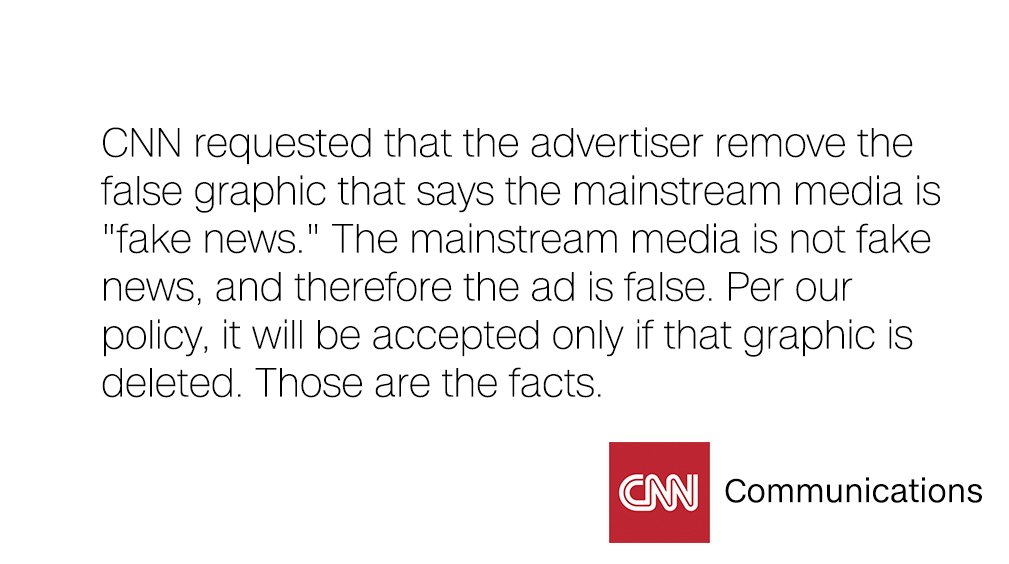 In response to the Donald J. Trump for President campaign's accusations of ad censorship: