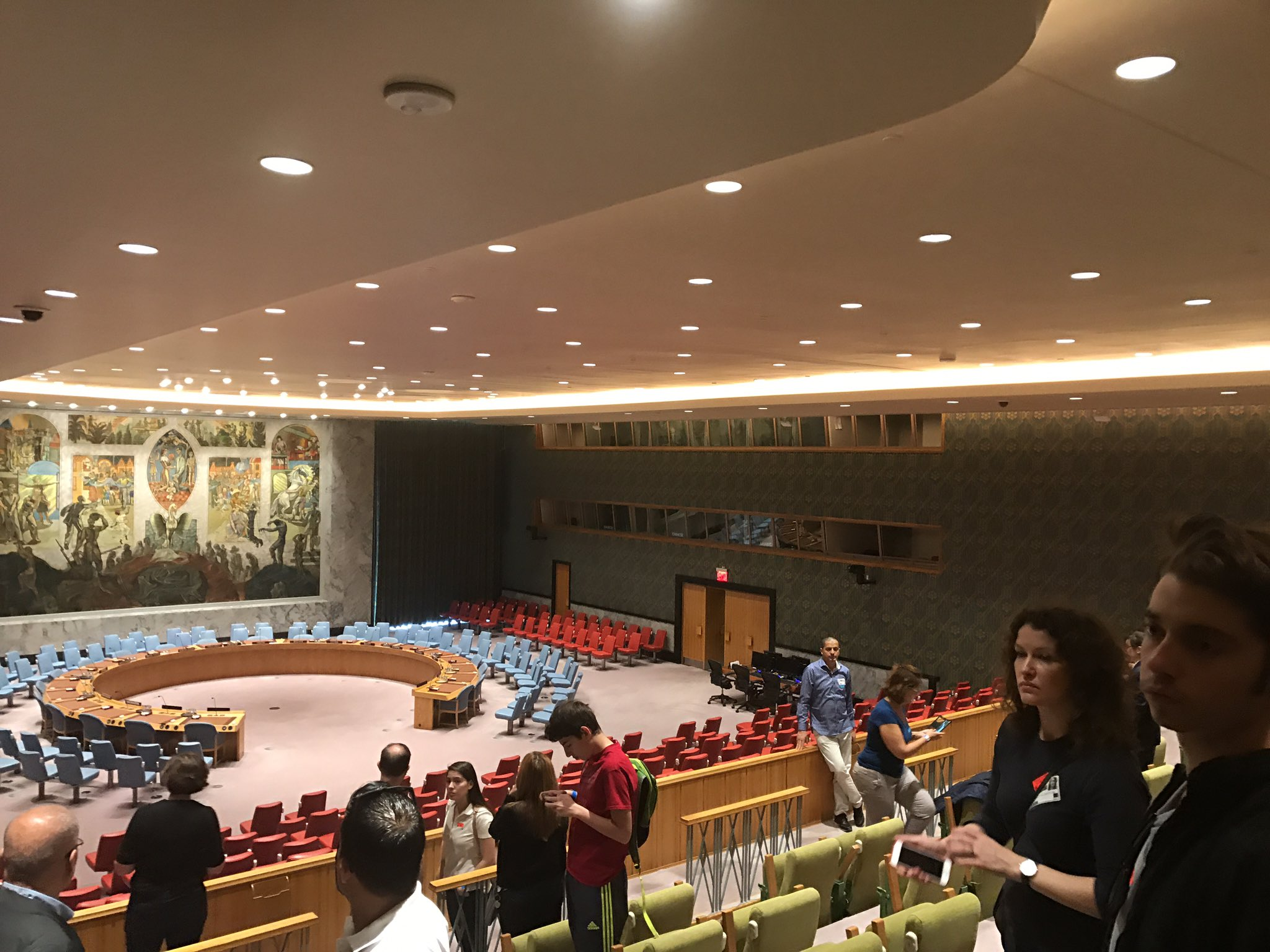 In those windows are where translators stay to give translations to the ear pieces #UnitedNations https://t.co/7Oh2uihVDC