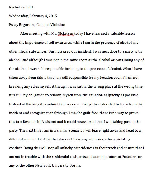rachel sennott on hahaha i just found the essay i had  rachel sennott on hahaha i just found the essay i had 2 write when i got caught next to not in a room alcohol in the freshman dorms