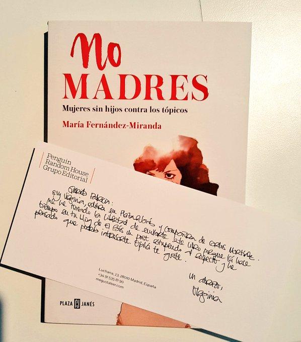 'No madres', de María Fndez-Miranda @PlazaJanesCol Muchas gracias Virginia. Te prometo que estaba en mi lista de pendientes!!! @megustaleer