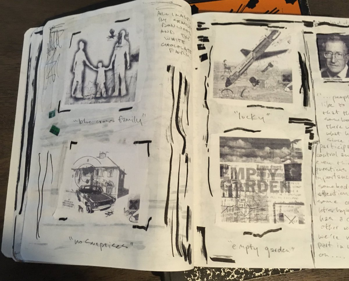 austin kleon on twitter i also used to print out radiohead stanleydonwood stuff and chomsky quotes lol and tape it in my comp books