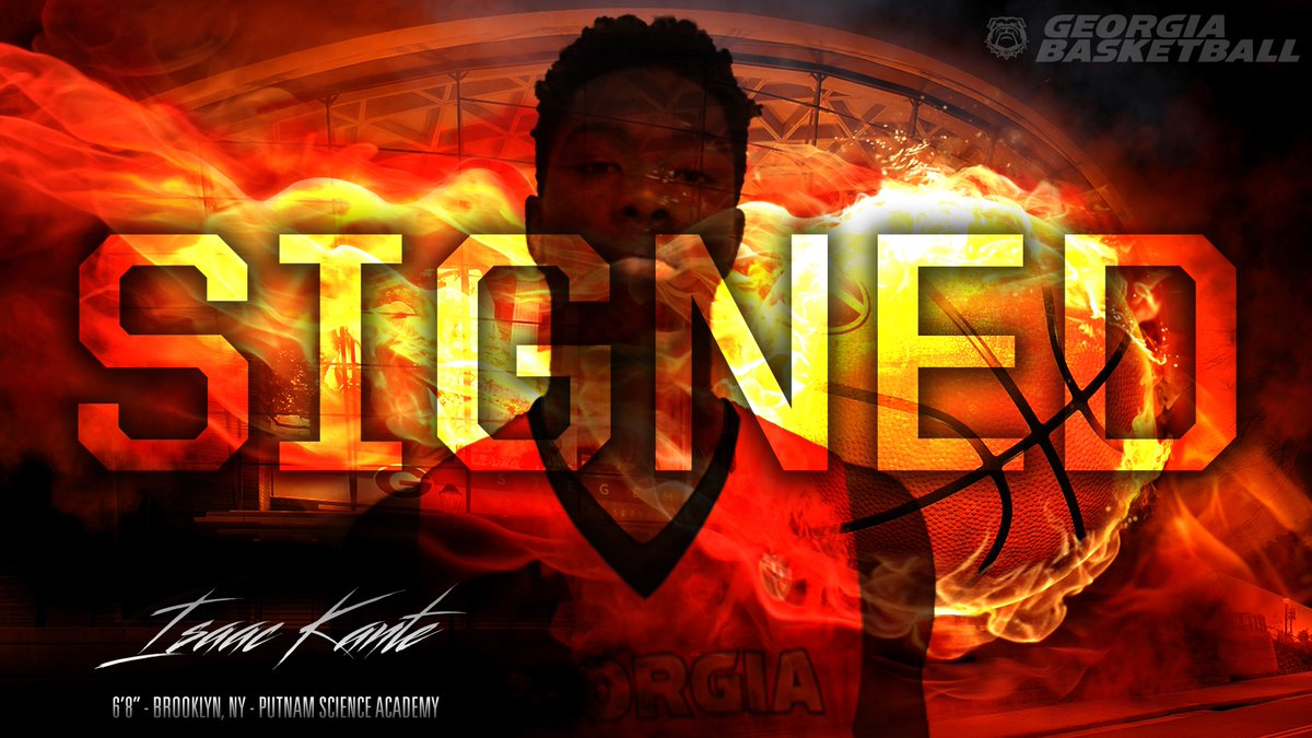 Isaac Kante UGA graphic edit (Photo from UGA Men's Basketball)