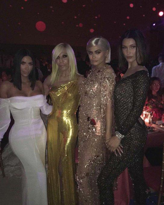 "Kim via Instagram : \"" Girl power last night! Happy Birthday to the queen \"""