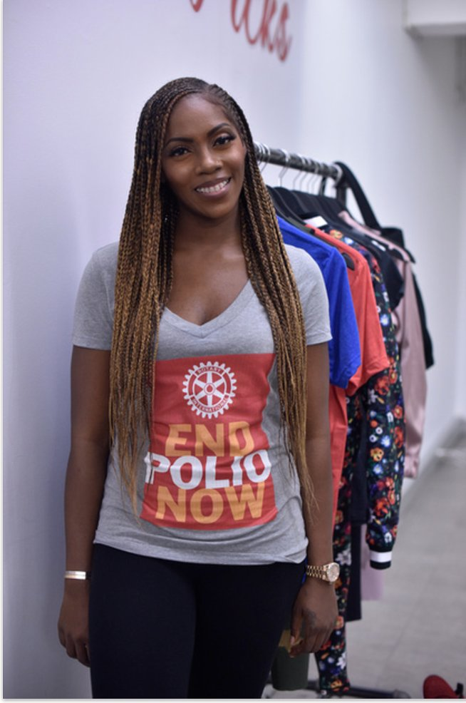Just announced, @TiwaSavage signs on as a Rotary celebrity ambassador for 'This Close' public awareness campaign for polio eradication. https://t.co/6K4l1f9wGC