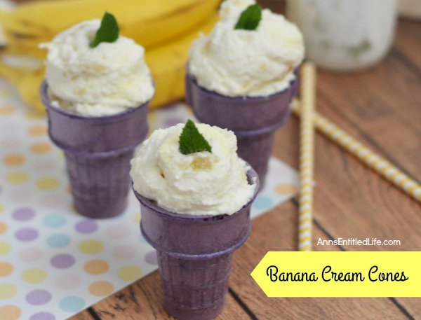 Banana Cream Cones Recipe