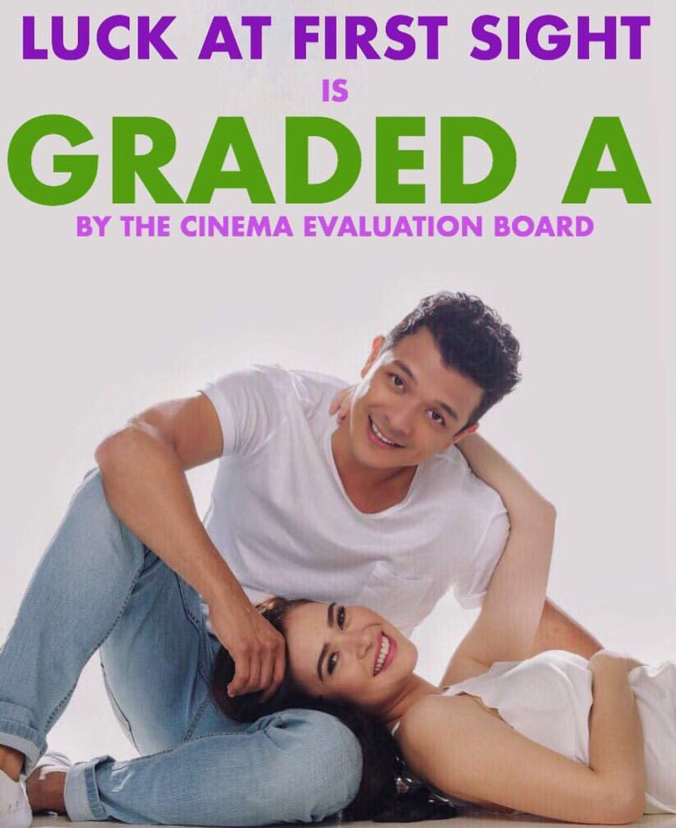 #LuckAtFirstSight SHOWING NA with @jericho_rosales @padillabela Directed by @danvillegas #GradedA https://t.co/ftdQbg5yKJ