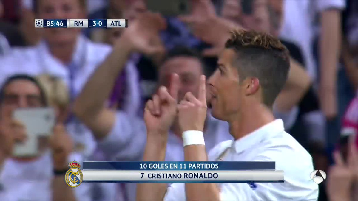 REAL MADRID ATLETICO MADRID con tre gol di Cristiano Ronaldo (Video)