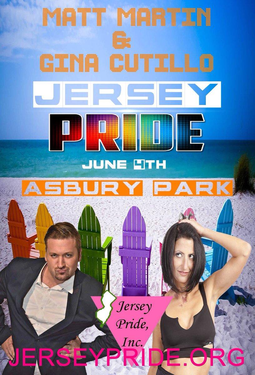 Matt Martin returns with Gina Cutillo to host #JerseyGayPride June 4th #AsburyPark #GayPride #LGBTQI https://t.co/MV41wFxJ4A