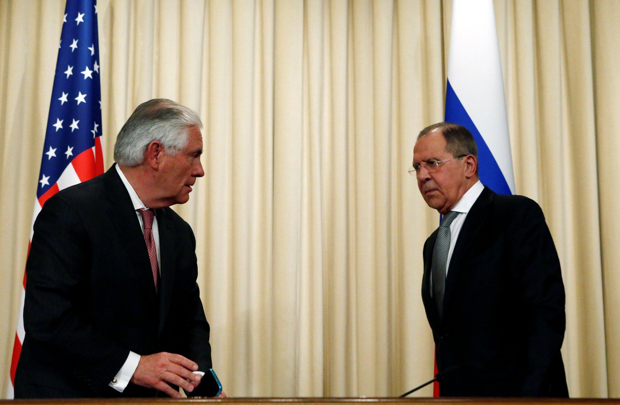 Лавров и трамп встреча фото