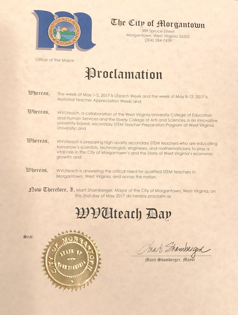 Happy WVUteach Day! https://t.co/LbZkJYFtI2