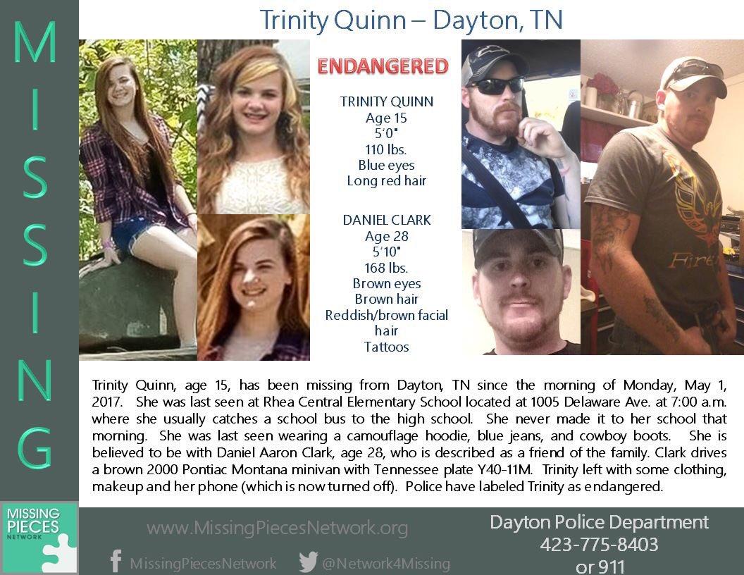 Teen #missing with 28 yo man #Tennessee  https://www. facebook.com/MissingPiecesN etwork/posts/1673659272940244:0 &nbsp; …   @newschannelnine @daytondailynews @KnoxvilleNews<br>http://pic.twitter.com/2iPyhg8kG2