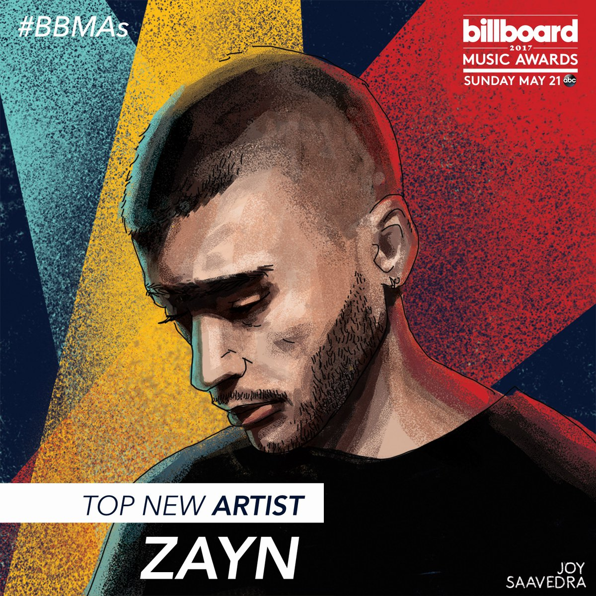 #BBMAs Top New Artist nominee @zaynmalik has spent over 40 weeks on the Billboard Hot 100! 💕