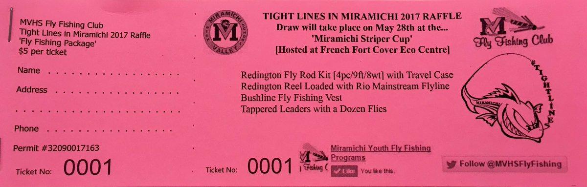 mv fly fishing club on twitter tightlines miramichi raffle draw