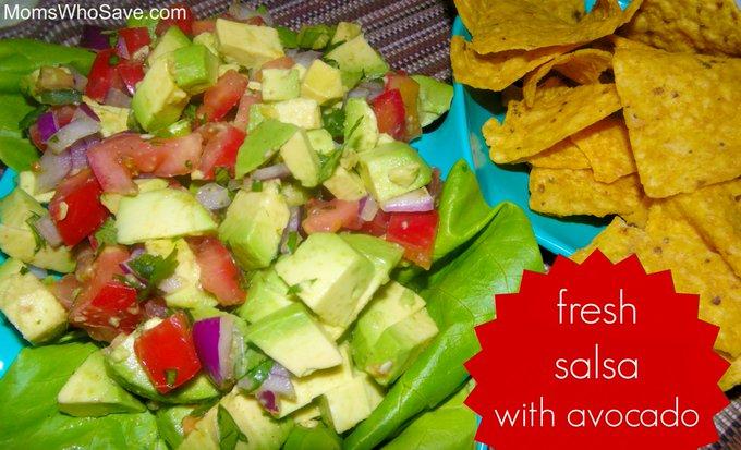 Fresh Salsa With Avocado — Easy Recipe!
