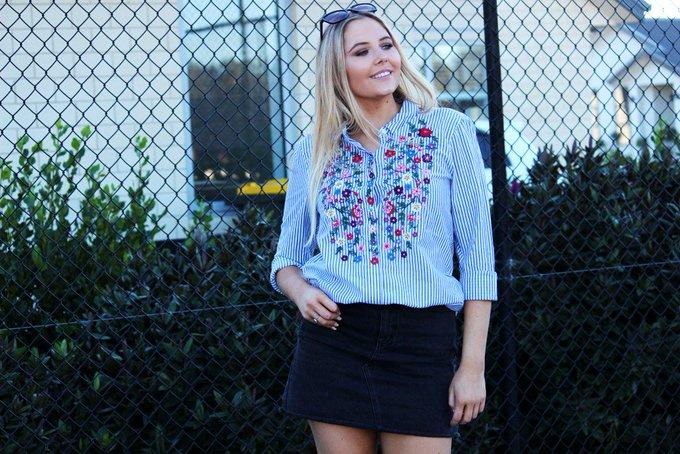 Outfit : Floral Stripe