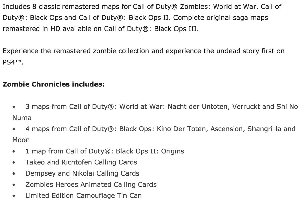 Call of duty news charlieintel on twitter breaking rumor call of duty news charlieintel on twitter breaking rumor official black ops 3 zombies chronicles description revealed via bo3 files gumiabroncs Gallery