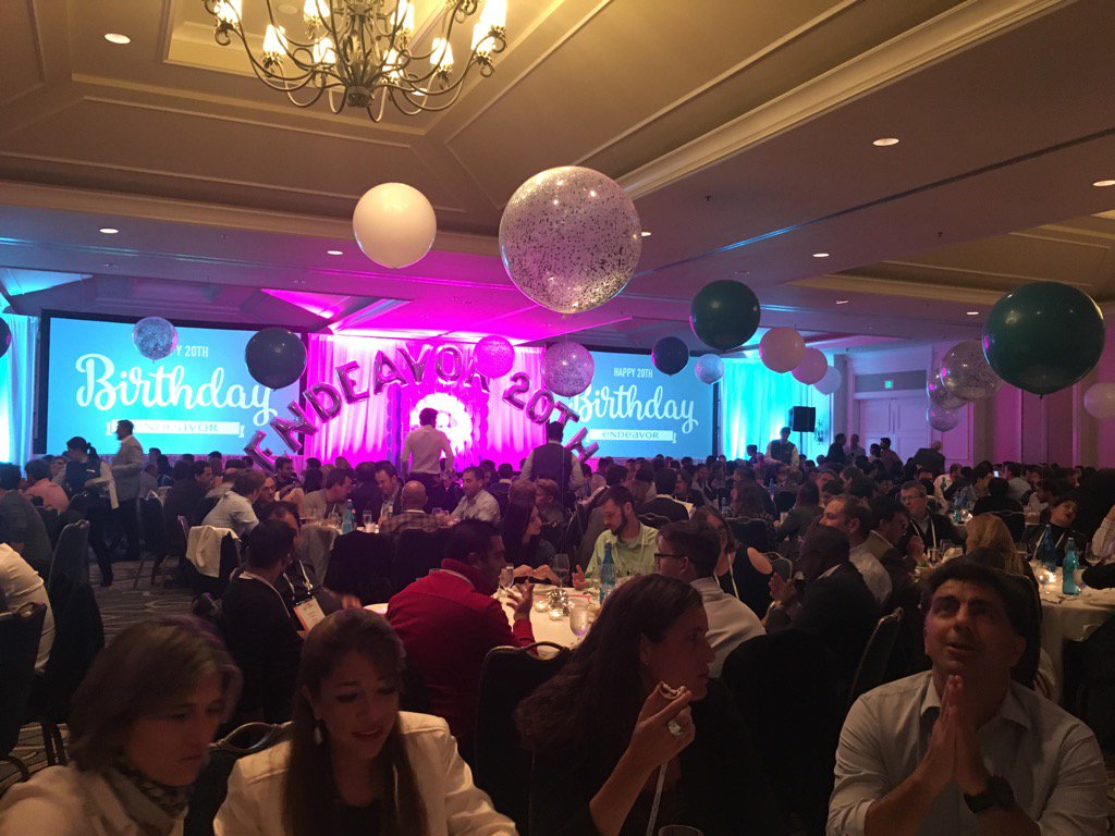 Endeavor's 20th birthday celebrations kick off!! #EndeavorRetreat https://t.co/5iIqexiB7V