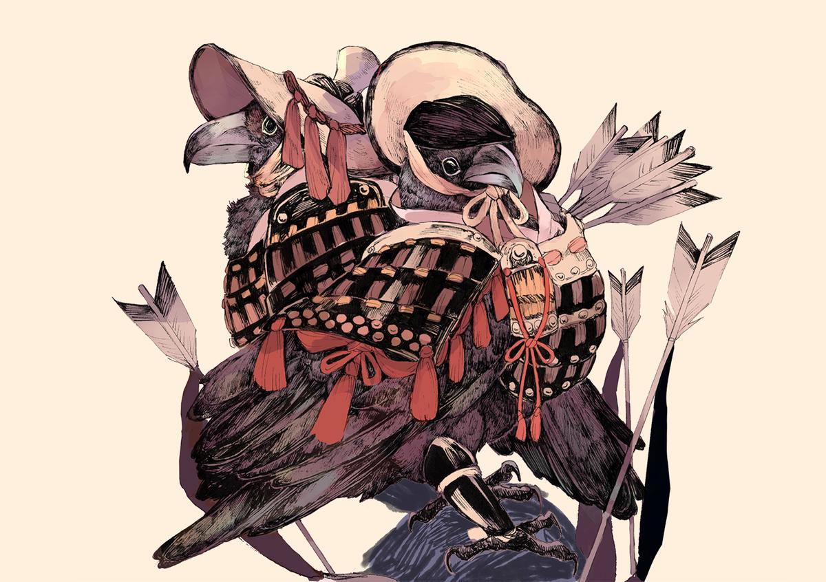 コミティアでは甲冑×鳥の本が出ると思います。東5【z33a】でお待ちしております~
