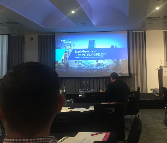 Inntel's #ITwizard Alex is at the @EyeforTravel summit today soaking up some #WednesdayWisdom! #tech #eftEurope https://t.co/KZ5R2W7874