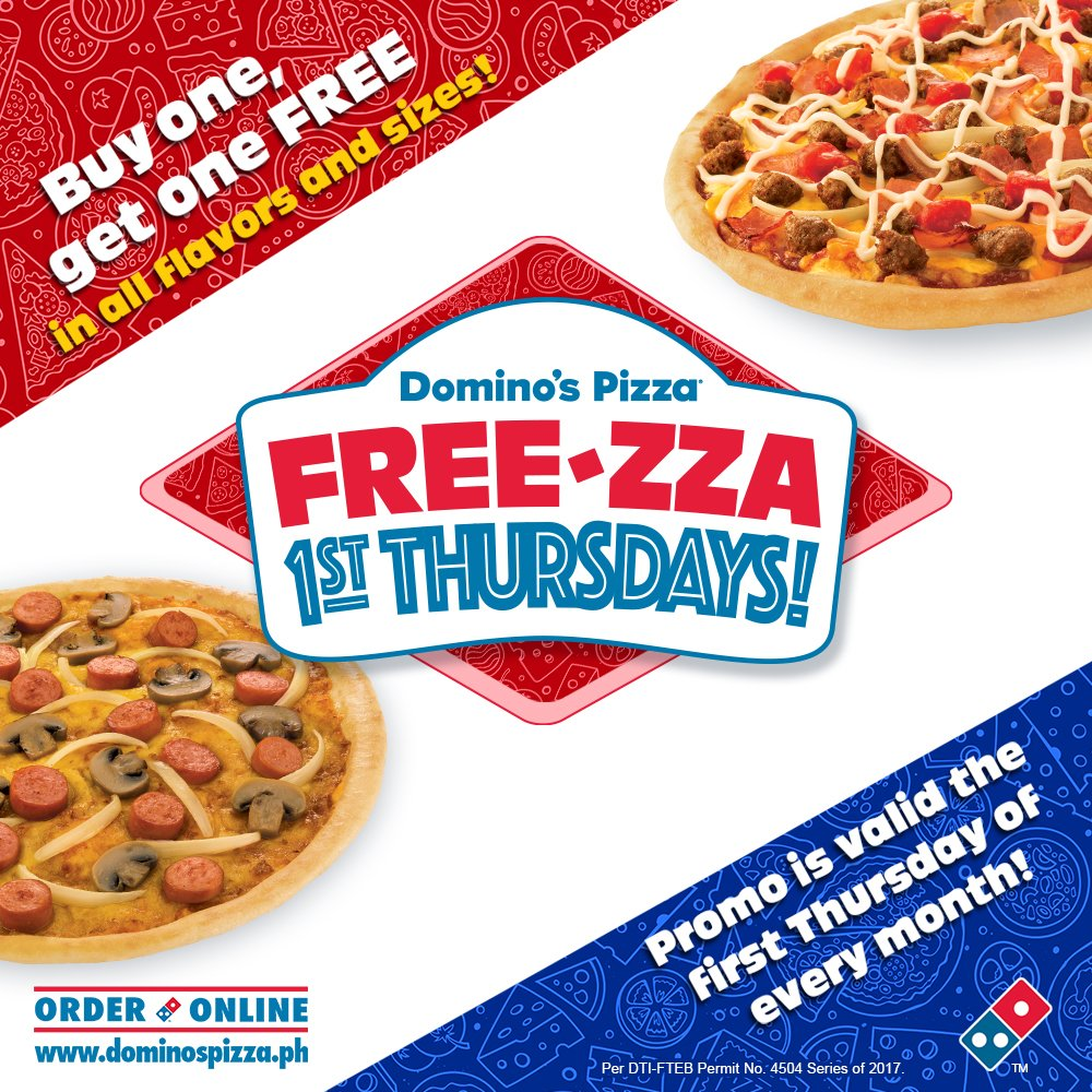 Dominosph On Twitter What S So Special About The First Thursday Of The Month Free Za 1st Thursdays That Means Buy One Get One Pizzas Tomorrow Https T Co Svvekxxdhx