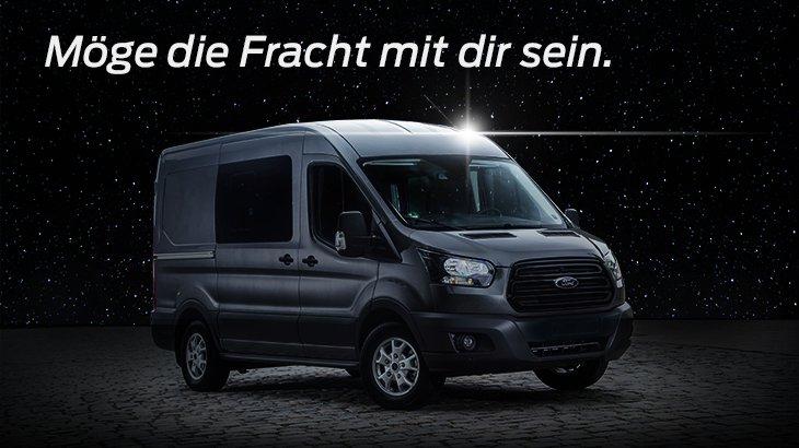 Das ist kein Mond, das ist eine Raumstation: Der #Ford Transit. Nicht erhältlich auf Alderaan. #MayThe4th https://t.co/iLNfenVilv