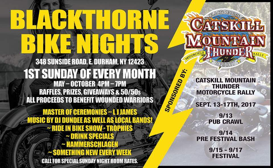 Bike Night at Blackthorne Resort East Durham NY bikers motorcycle event