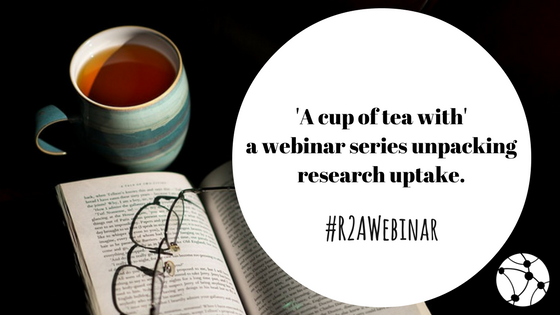 #WEBINAR sign up: #R2Awebinar with RAPID&#39;s @JohnYoungODI on M&amp;E &amp; research uptake: Thursday, 25 May, 14:00 BST  http:// ow.ly/R8Av30bjRq7  &nbsp;  <br>http://pic.twitter.com/F6HcoIfW3F