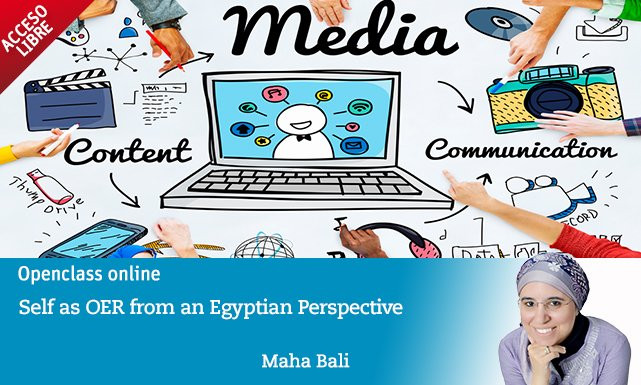 New #OpenTuesday @Bali_Maha: Self as #OER from an Egyptian perspective. Tuesday 9th May at 3 p.m. (CET) https://t.co/KcUdOIj8W6 https://t.co/FQmtrmVG8A