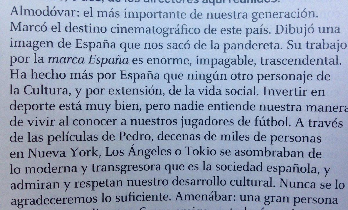Por qué Almodóvar ha hecho más por España que el puñetero deporte. Amén @alexdelaIglesia en @fotogramas_es https://t.co/otvcVvCXAl