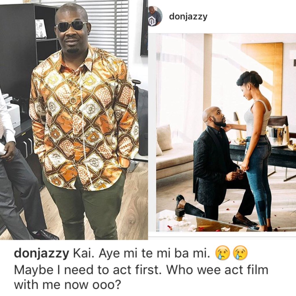 See what Don Jazzy said about Banky W and Adesua Etomi's Engagement