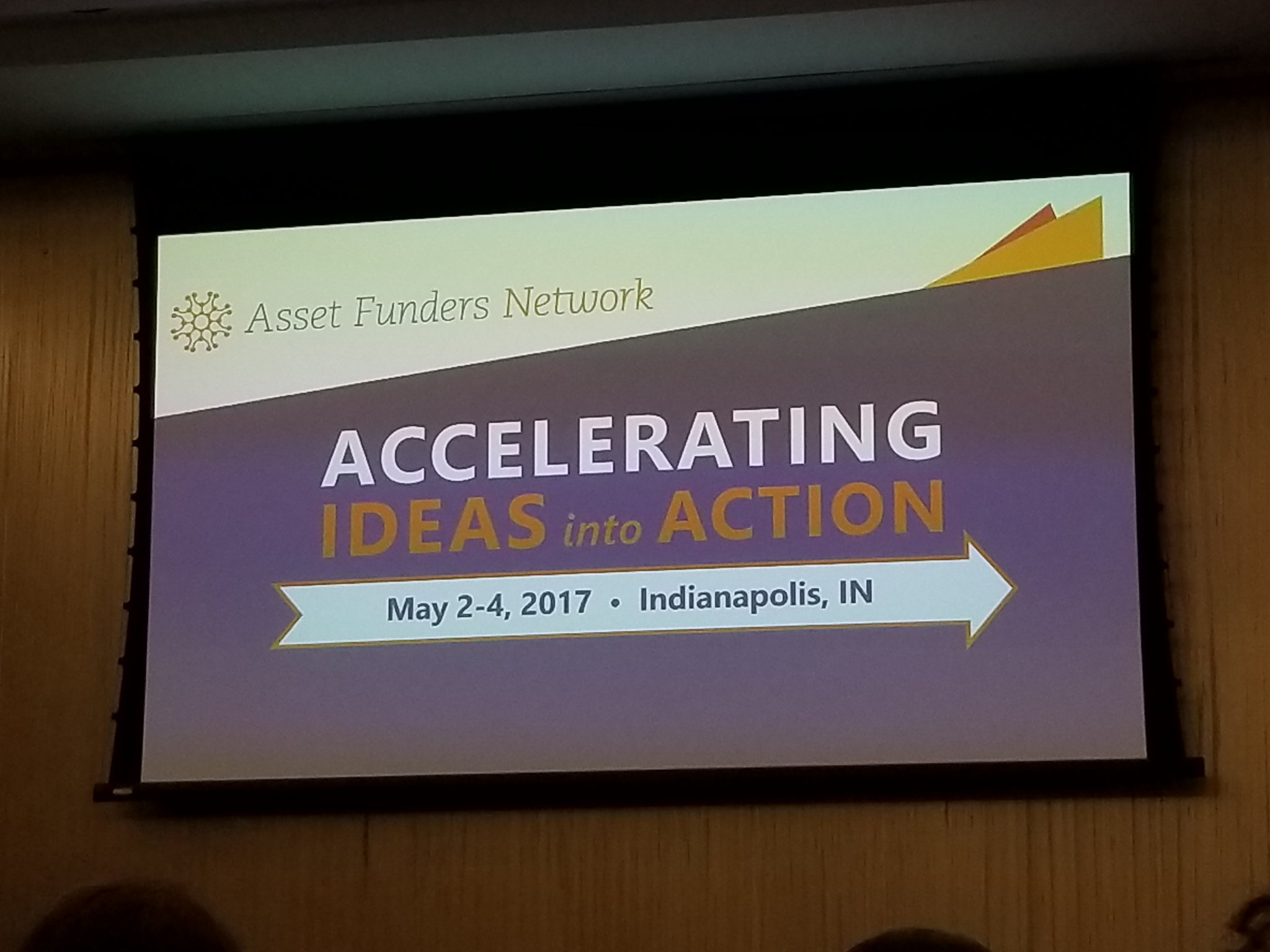 Such a great conference theme! Let's all make this a life goal! @AssetFunders #ideasintoaction https://t.co/YTVnEWygz4