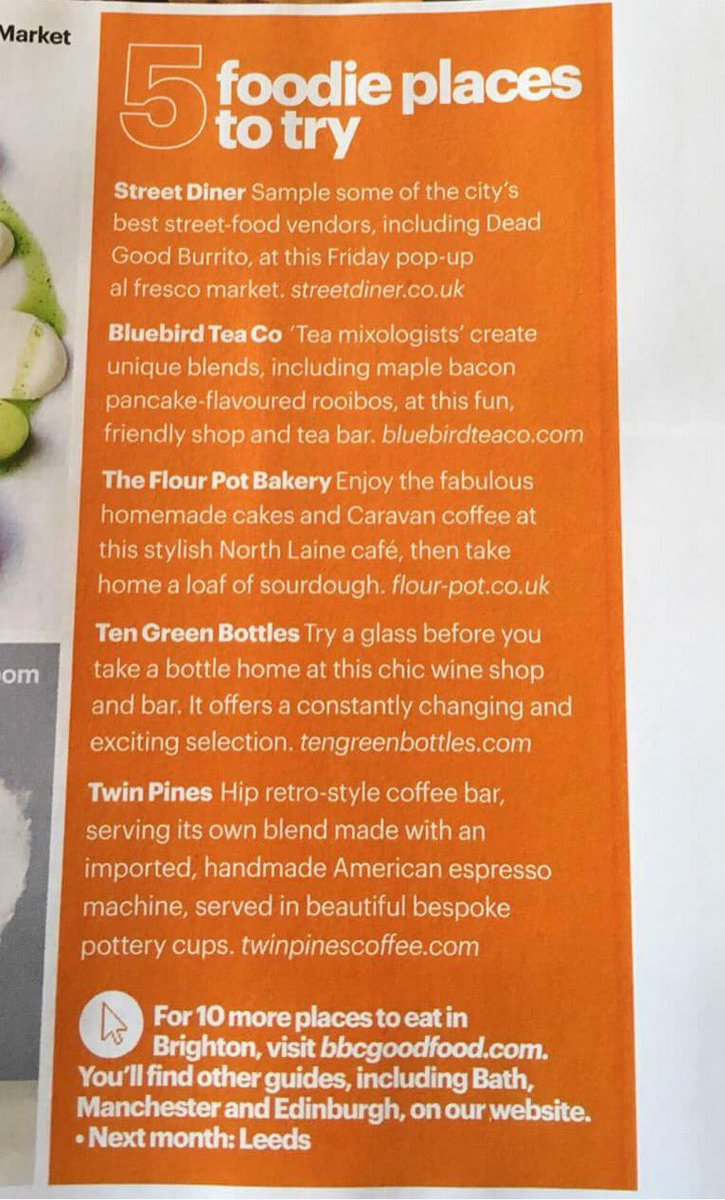 Street diner on twitter g up the mighty bbcgoodfood and big up the mighty bbcgoodfood and gastronomically minded andylynes for mentioning us this month amongst the brighton foodie greats forumfinder Image collections