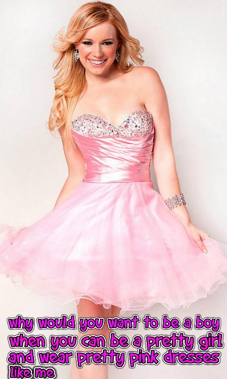 Princess Megan On Twitter I Would Wear Pretty Pink Dresses Every Day Sissy Feminization