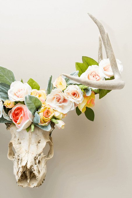 How To Make A Floral Crowned Deer Head