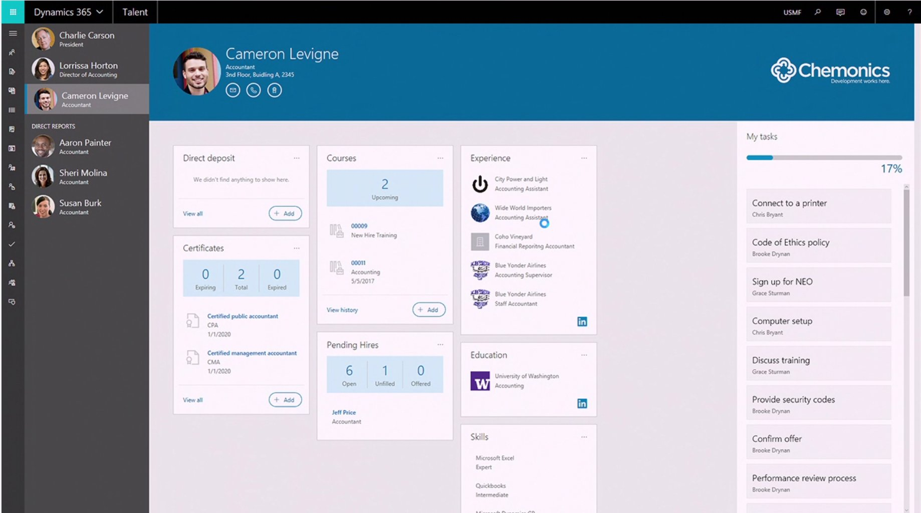 Beautiful employee profile with #Dyn365 for Talent with #LinkedIn  #MSBusinessFwd https://t.co/lEBt03UlDN
